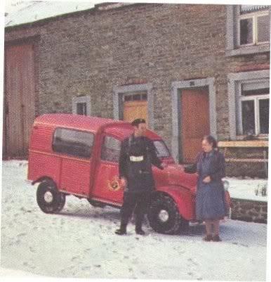 Photos et cartes postale 2cv camionnette  - Page 2 2cvbestelgeitjepost