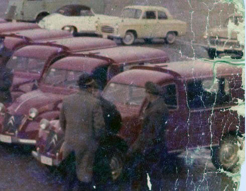 2cv azuls pour postes belges 1961_Poperinge2cv_postb