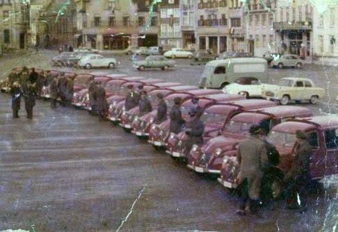 2cv azuls pour postes belges 1961_Poperinge2cv_postd