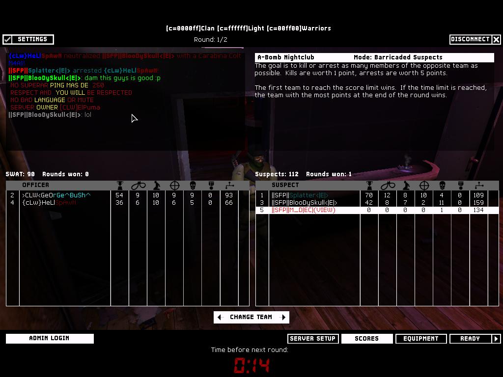 SFP vs CLW 13.1.08 Result 5-1 WON 3round