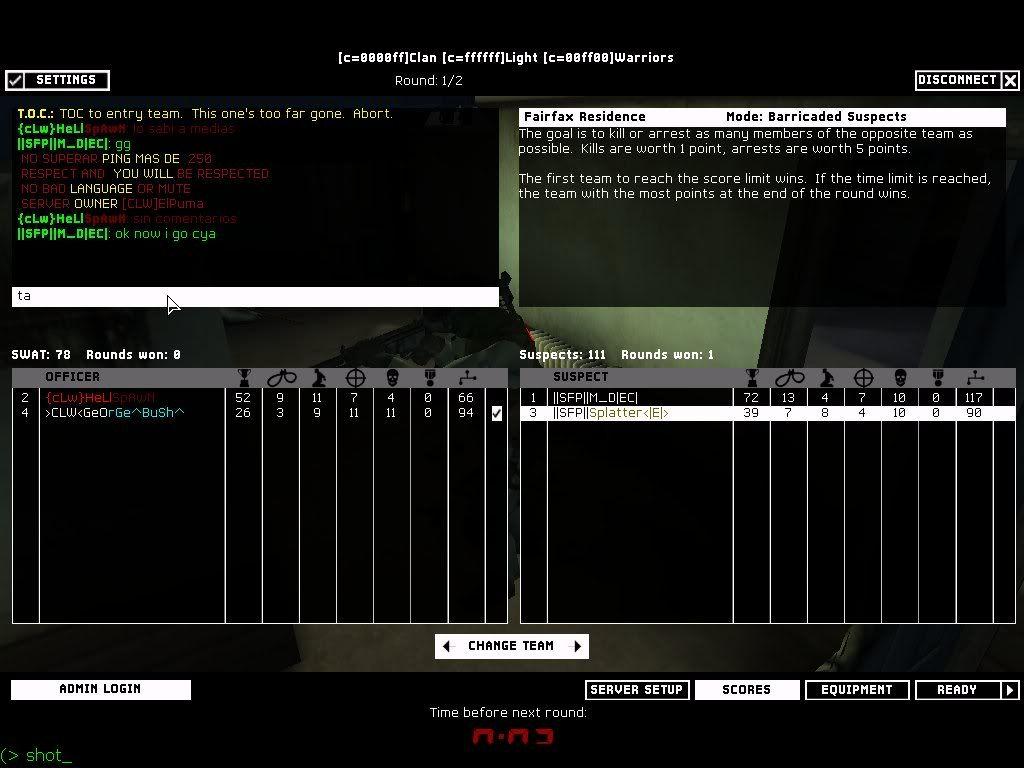 SFP vs CLW 13.1.08 Result 5-1 WON 5round