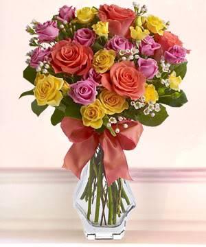 Happy Valentine's Day ladies Multi-coloredroses