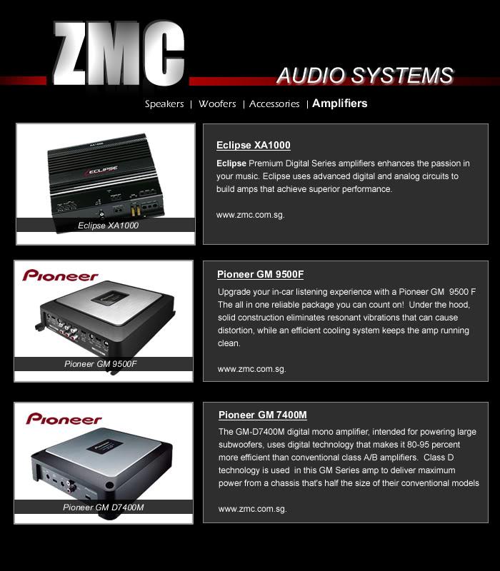 ZMC -THINKWARE/PARROT/EASYCAR/SPY/DOD Amplifiers