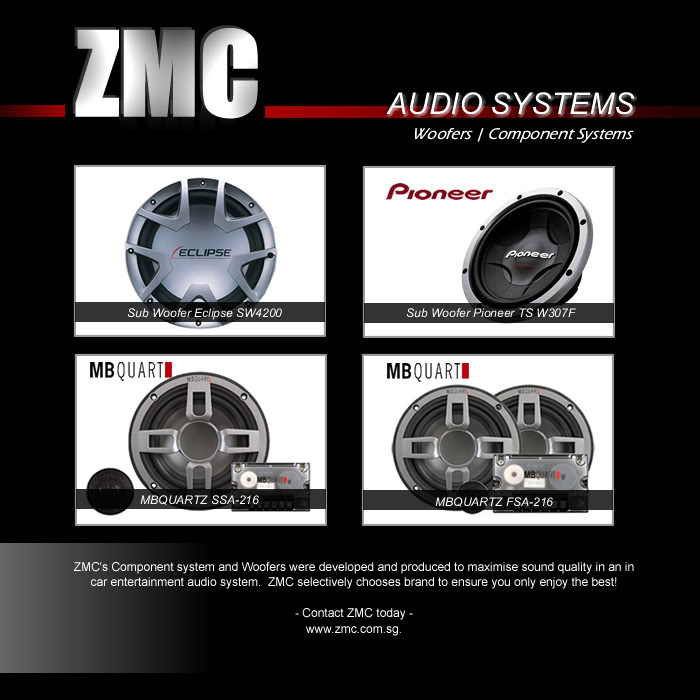 ZMC -THINKWARE/PARROT/EASYCAR/SPY/DOD ComponentWoofers