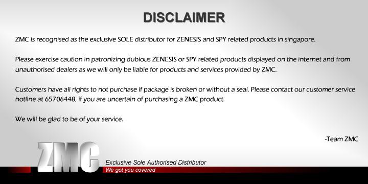 ZMC -THINKWARE/PARROT/EASYCAR/SPY/DOD Disclaimer
