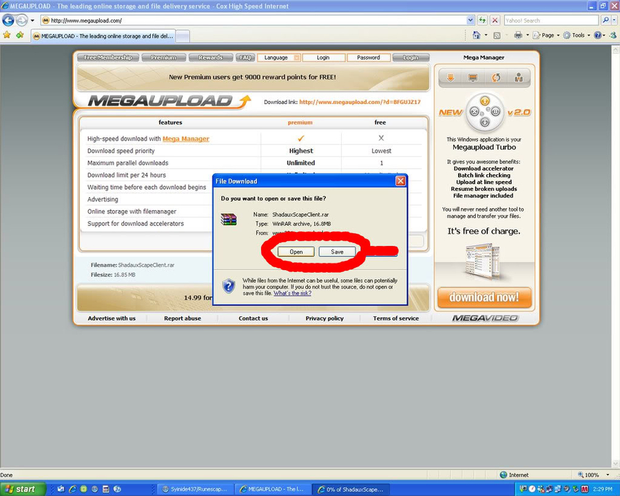 Client download tutorial Openorsaveitifuwant