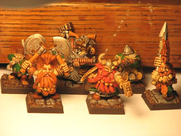Dwarfs going for a dip! Now with some greenskins. Dwarfwbstart