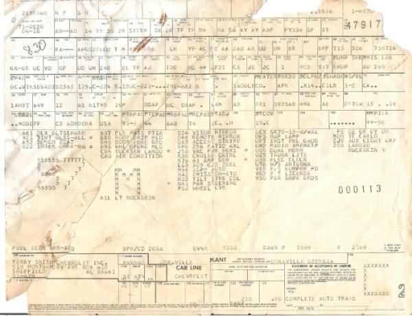 1977 Orig Documents And Build Sheet--pics 001_zpsfgbuwvln