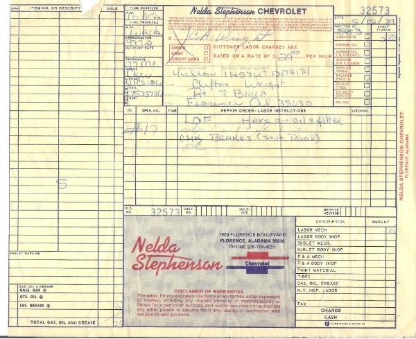 1977 Orig Documents And Build Sheet--pics 002_zps0eq2qiug