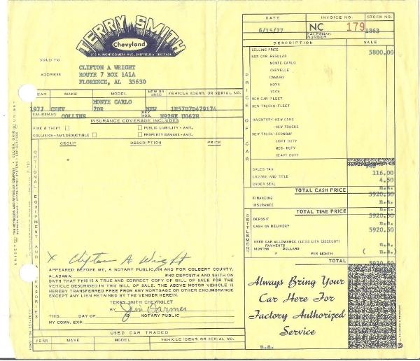 1977 Orig Documents And Build Sheet--pics 003_zpsmuhg1qud