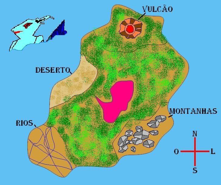 Mapa da ilha Mapa
