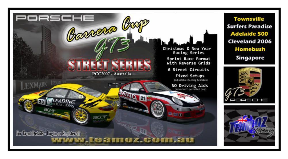 TeamOz Racing - Porsche Carrera Cup GT3 Street Series 2009TeamOzPorscheStreetSeriesPoster