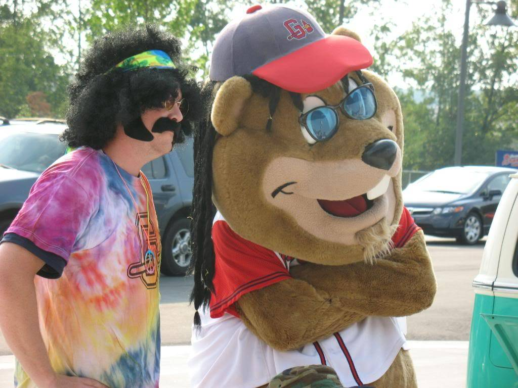 "70""s night with the Gwinnett Braves GwinnettBravesgame012"