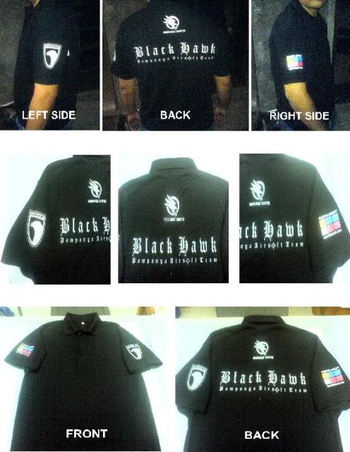 For Reservation/Order: Team Black Hawk's Polo Shirt (2nd Batch) TBHPoloShirt