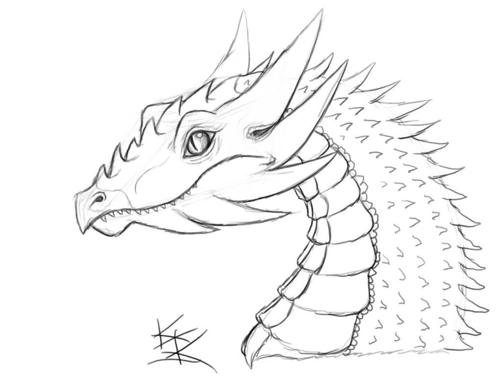 Colorin coloran ¿Os apetece pintar? Dragon_Sketch_by_Techdrakonic