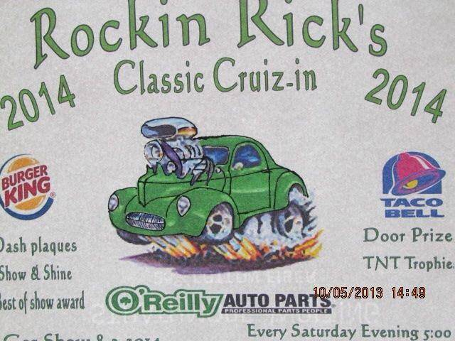 Rockin Rick's West Side Hamilton, Ohio Cruise In! Saturdays