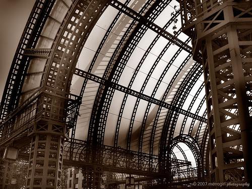 """Arquitectura """"esteampunk"""" real Baltard-LesHallesII"""