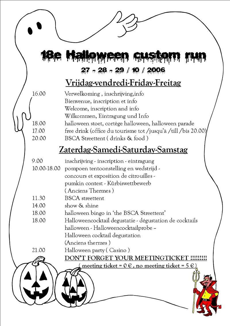 B.S.C.A. Halloween Custom Run, Spa  27/28/29-10-2006 BSCA2