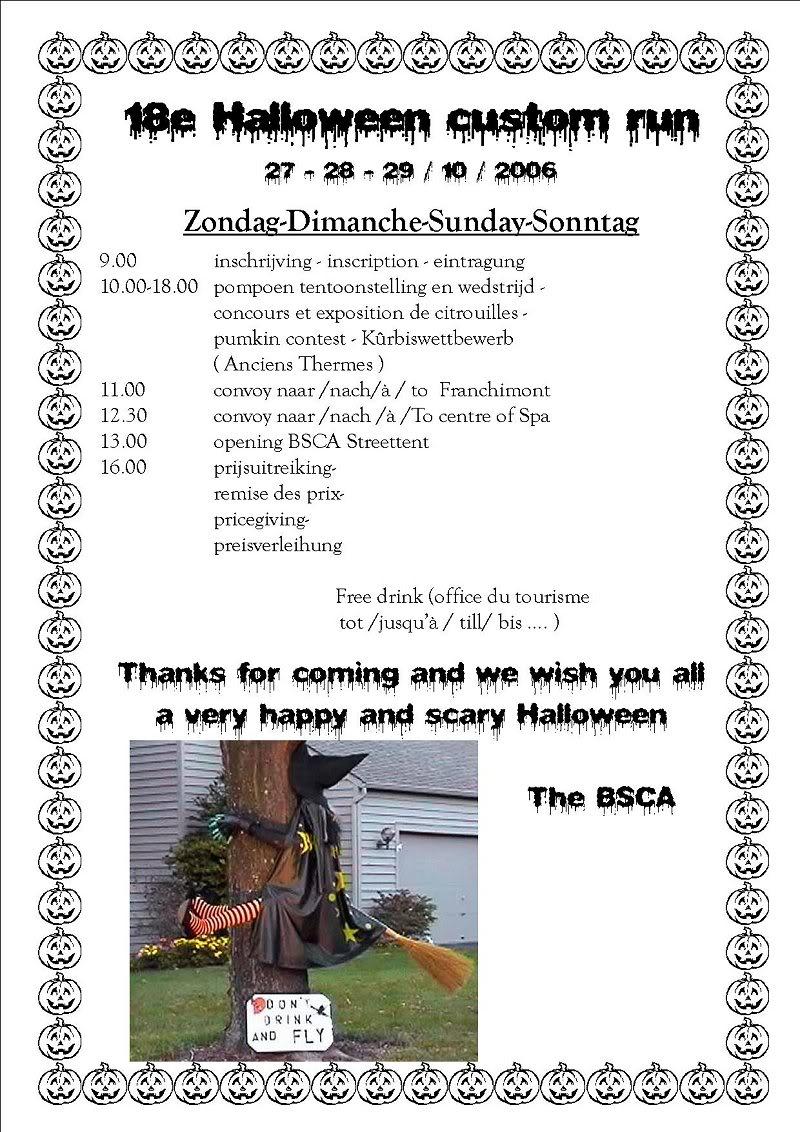 B.S.C.A. Halloween Custom Run, Spa  27/28/29-10-2006 BSCA3