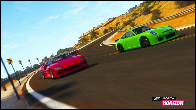 Forza Horizon Media F40_rgt
