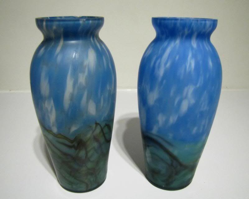 Bootfair Find pair satin glass vases ID help please Glassvasepair005