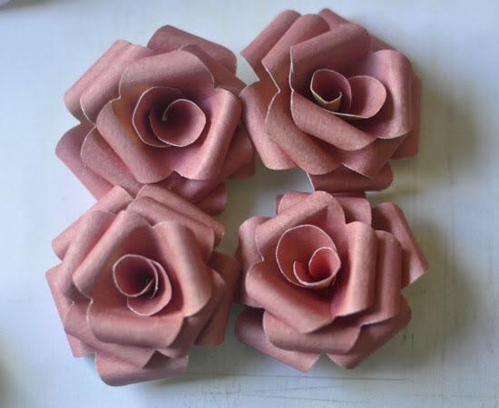 Patterned Paper Flowers... Cratebluehillgrass