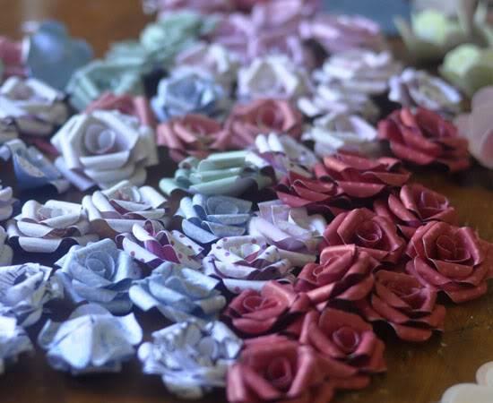 Patterned Paper Flowers... Febflowers