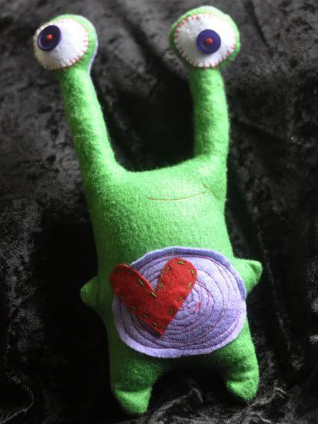 Purple/Green Felt Alien... Purple-GreenMonster