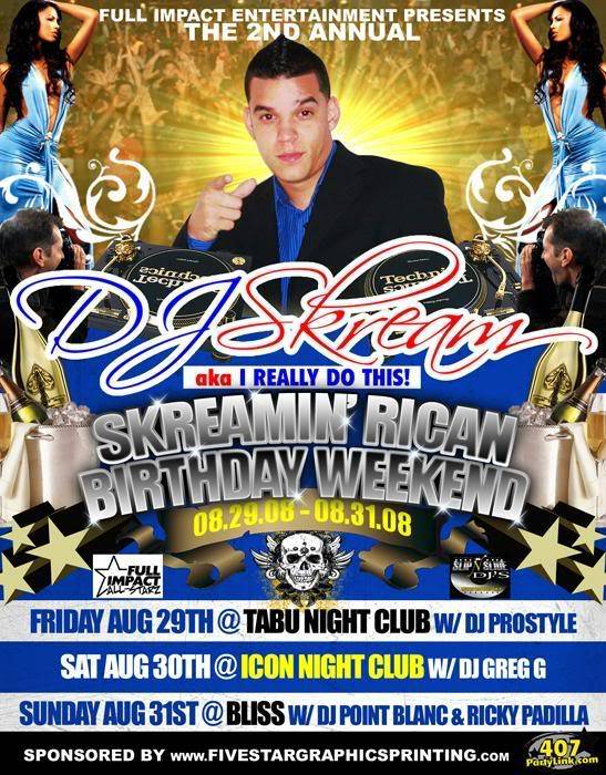 DJ Skream Birthday Bash this weekend dont miss it B-day