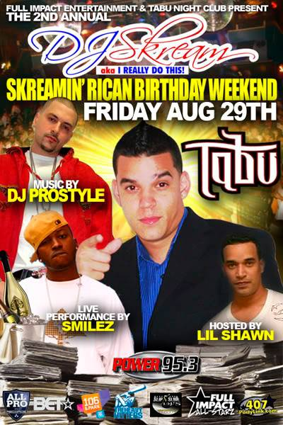 DJ Skream Birthday Bash dont miss it SkreamHF