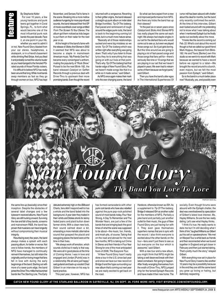Des news, des news, des news! - Page 9 09-24AQCover-NewFoundGlory