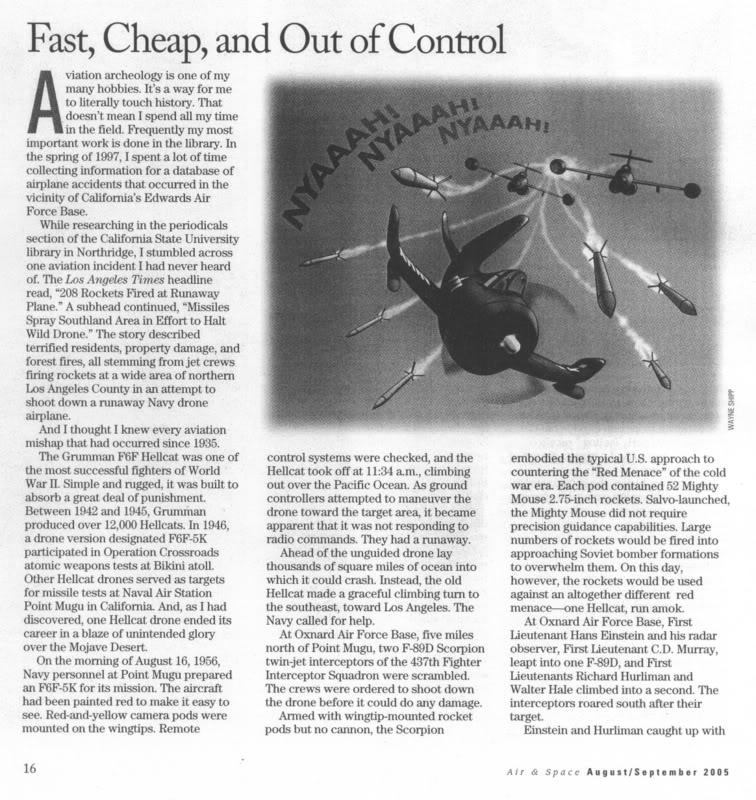 قصة طائرة من دون طيار أحدثت معركة جوية إبان الحرب الباردة F6Falive