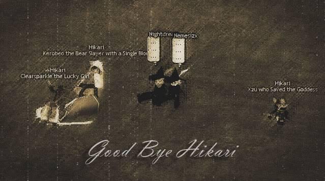 Kerobeo's Goodbyes to Hikari MabinogiHikari