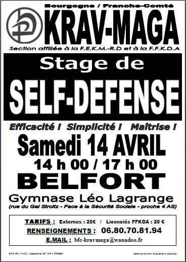 Stage de krav-maga à Belfort Affichekrav