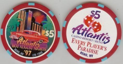 Hot August Nights Casino Chips Atlantis97HAN