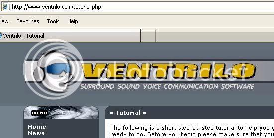 Ventrilo setup guide Tutorial