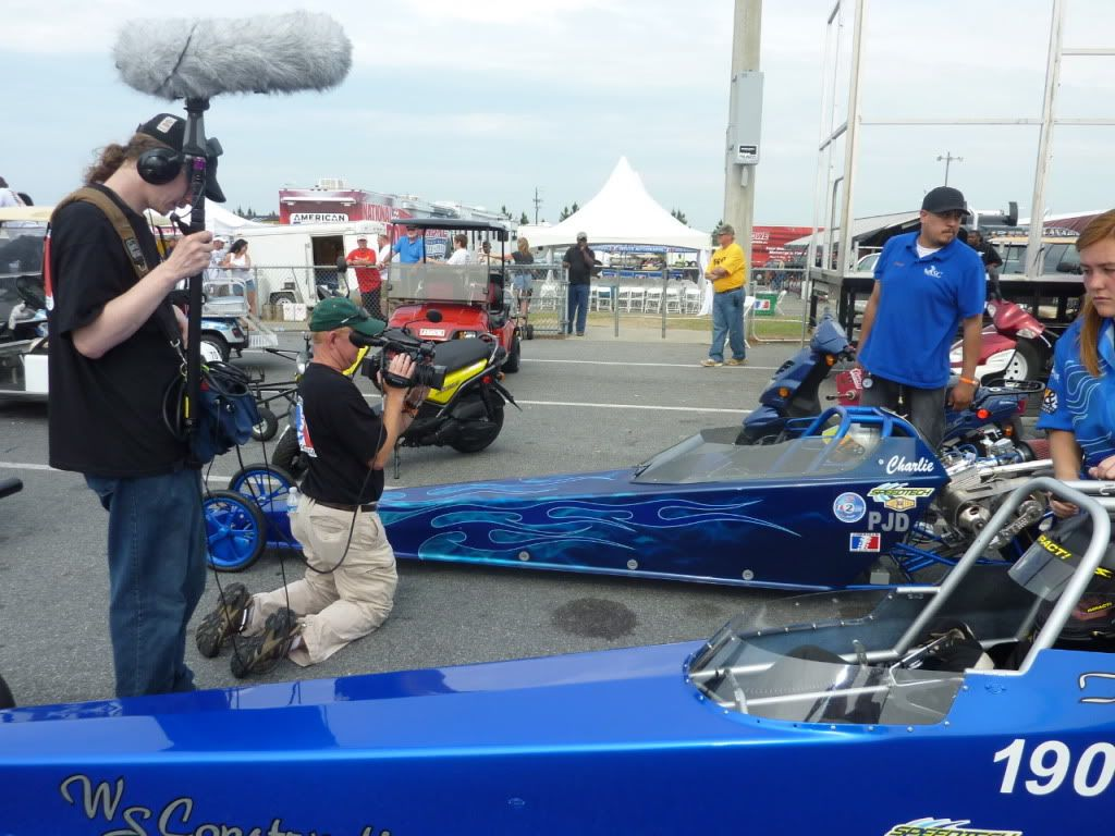 American Drag Racing League (Chico and I get our mugs on TV) P1020370