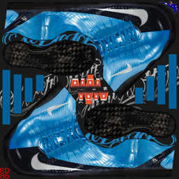 Nike Mercurial Vapor Superfly FG -Orion Blue/Metallic Silver/Obsidian/Max Orange MV5SuperFlyBluBlk