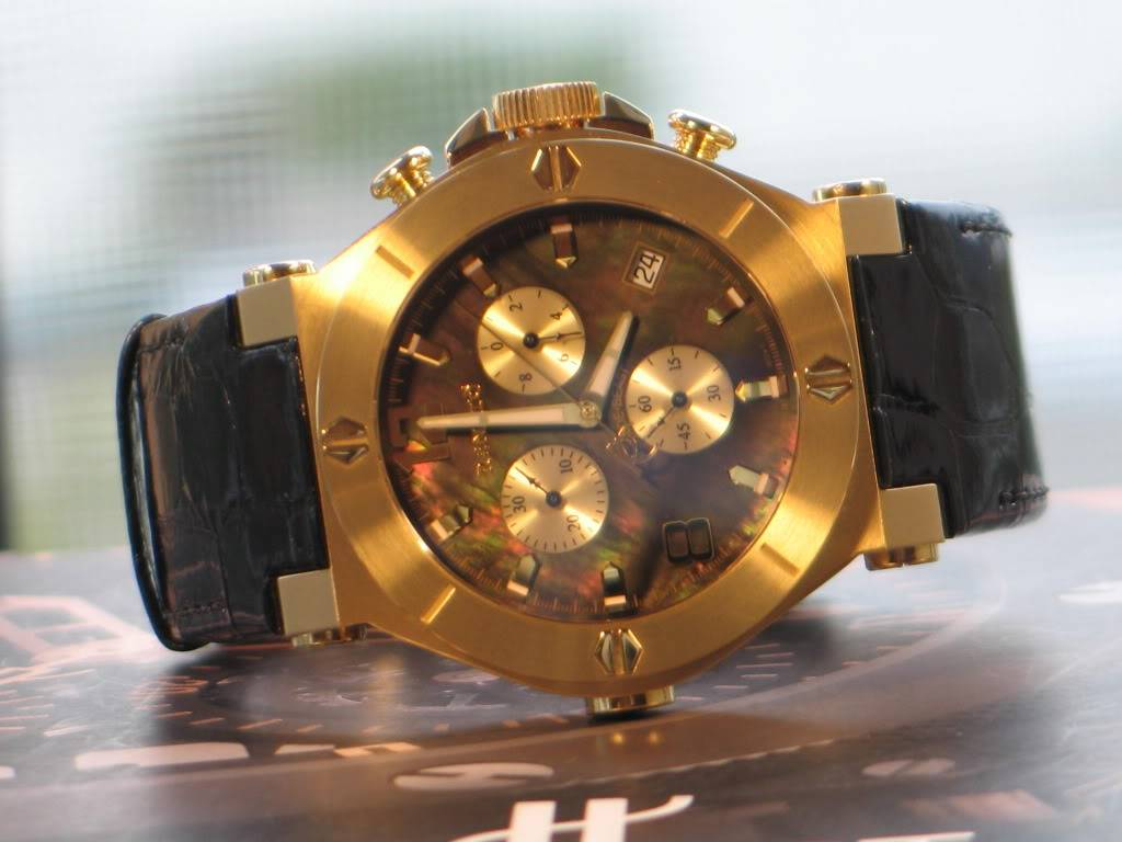 Watch-U-Wearing 4/24/11 Happy Easter J171845-RenatoGold-toneWilde-BeastStainlessSteelChronographWatch