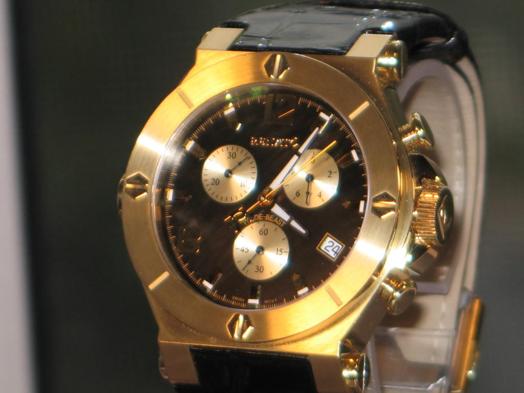 Watch-U-Wearing 4/24/11 Happy Easter J171845-RenatoGold-toneWilde-BeastStainlessSteelChronographWatch7