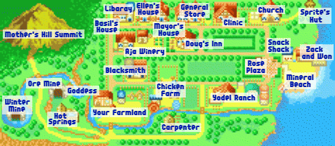 [Hướng dẫn] Harvest moon: Friends of mineral town World_map