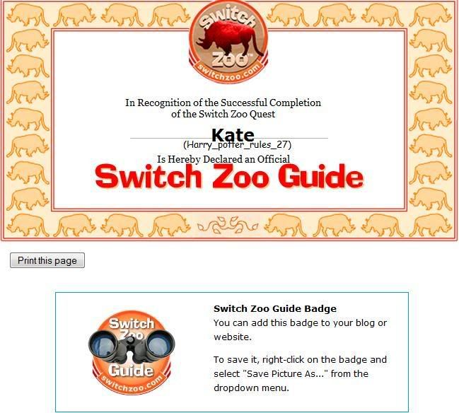 Zoo Quest Switchzoo