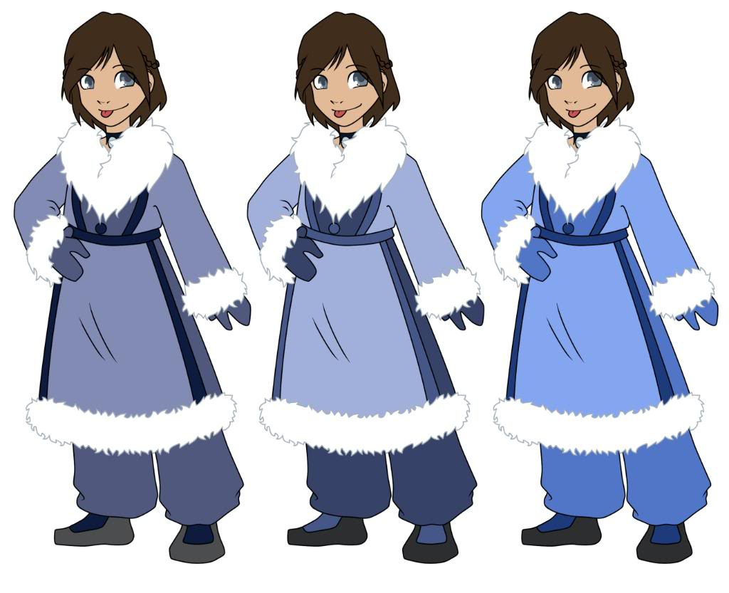Kienya's Water Tribe and Airbender outfits. - Page 2 Winterkienyacolortests