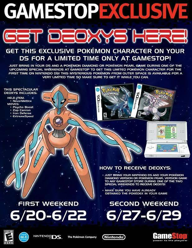 Deoxys event in American Gamestops :D DeoxysxD