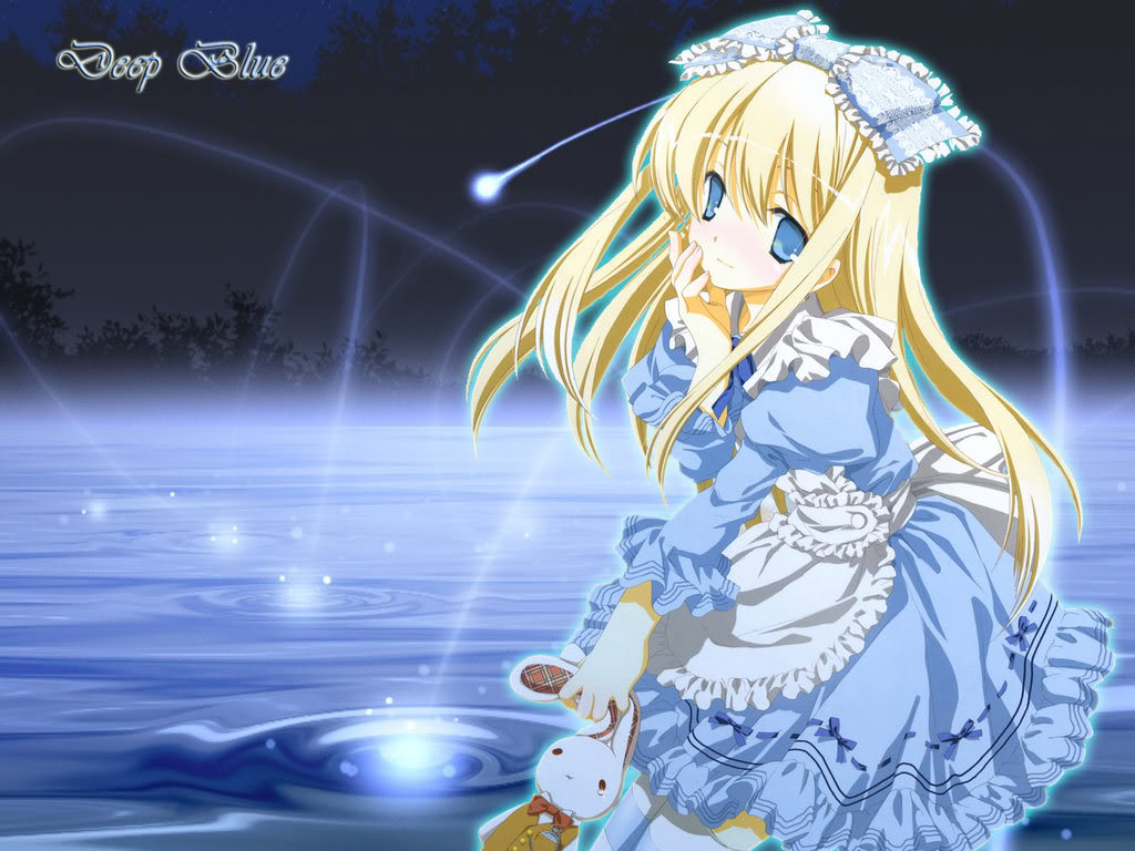 صور انمي كول Wallpaper-blue-girl-anime
