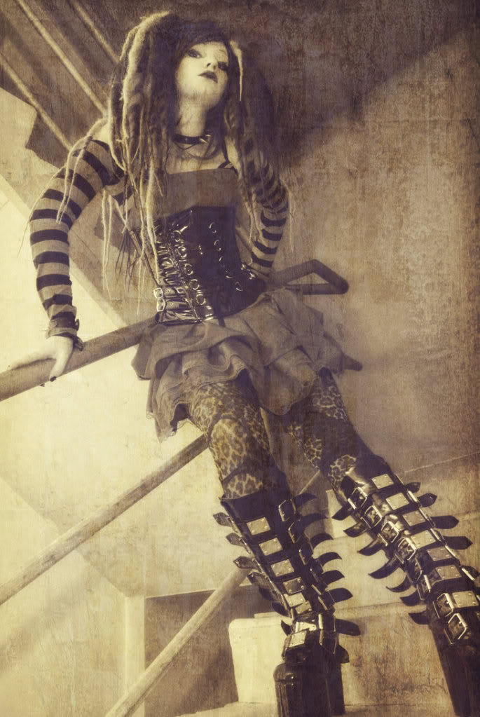 Zeria's Soul Torn Warriors Stairway_Cyber_Goth_by_VioletMorphine