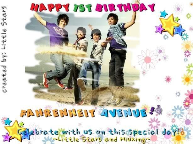 Happy first birthday Fahrenheit Avenue! BirthdayPosterforFA