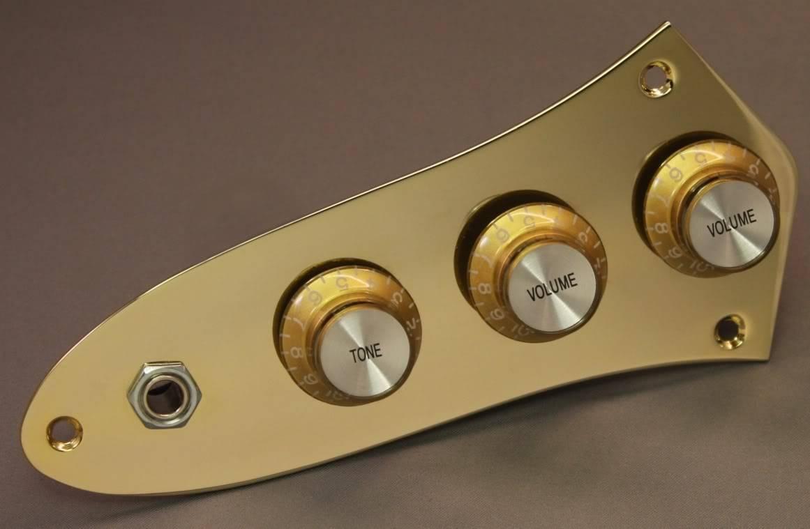 Texas Customs Jazz Bass Loaded Control Plate - Alguém conhece? J-BassGoldRetroPlatesm