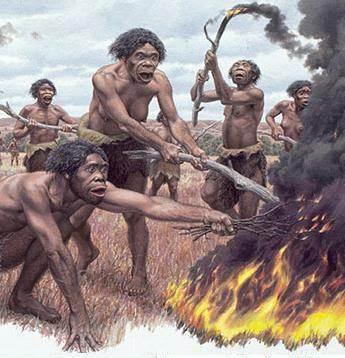 HOMINIDOS EN LA EDAD DE PIEDRA Erectus_fuego-1