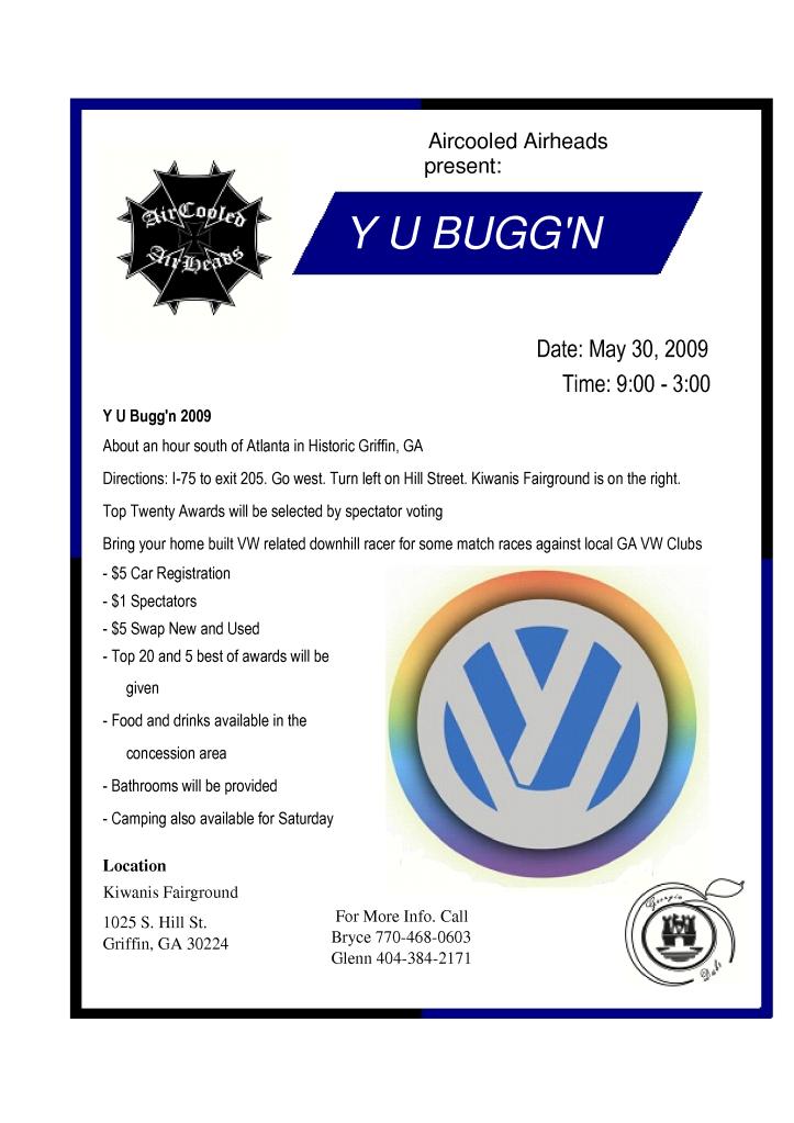 Y U Bugg'N 2009 Flyer_0001